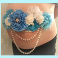 Maternity sash gender reveal party baby shower gift baby mum to be photo shoot